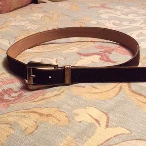 NWOT MICHAEL Michael Kors brown suede belt.